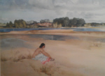 sir william russell flint Anne-Marie by the Loire signed limited edition print