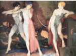 russell flint artemis and chione print