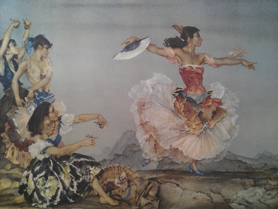 sir william russell flint Danza Montana signed limited edition print