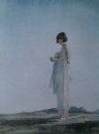 sir william russell flint Eve the girl with bobbed hair signed limited edition print