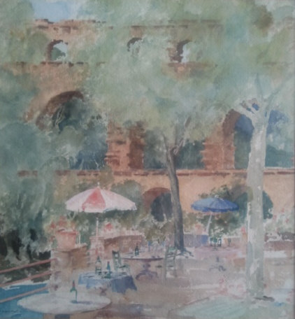 russell flint watercolour pont du gard