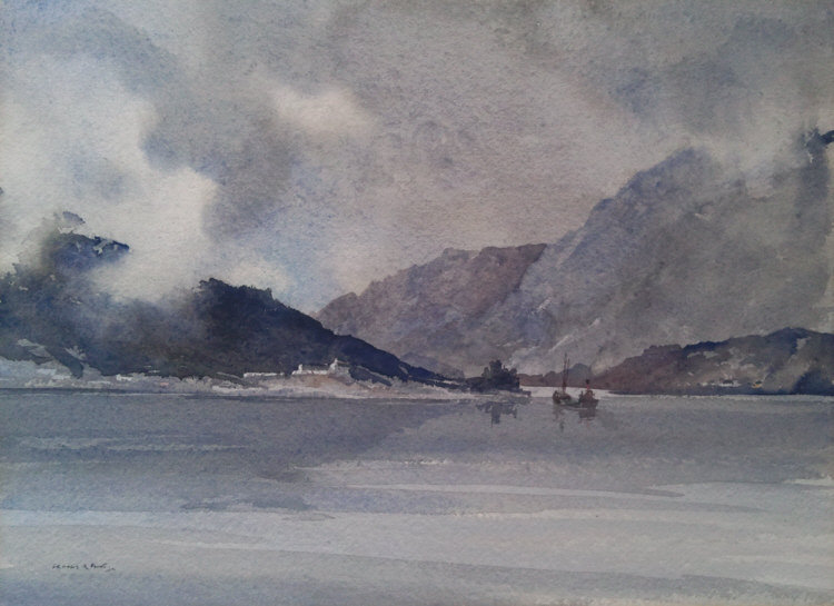 russell flint watercolour mull
