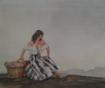 sir william russell flint Griselda signed limited edition print