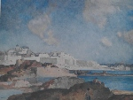 sir william russell flint Low Tide St. Malo signed limited edition print