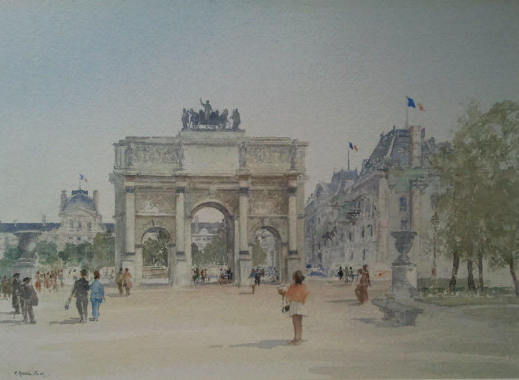 russell flint watercolour paris