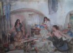 sir william russell flint Question of Colour signed limited edition print
