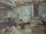 sir william russell flint retreat from the sun signed limited edition print