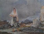 sir william russell flint Rosalba signed limited edition print