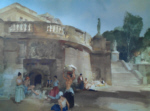 sir william russell flint under the palace terrace signed limited edition print